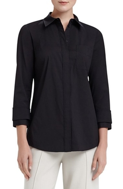 Lafayette 148 New York - Emerson Stretch Poplin Blouse
