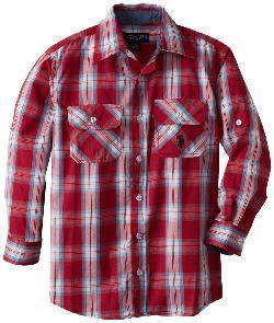 U.S. Polo Assn.  - Boys Plaid Long Sleeve Shirt