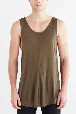 Urban Outfitters - Feathers Raw Edge Racerback Tank Shirt