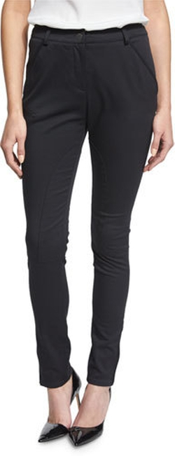 RED Valentino - Seamed Zipper-Cuff Slim-Fit Pants
