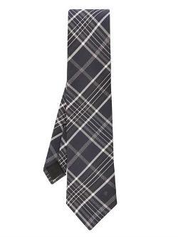 Alexander Mcqueen  - Oversized-Check Jacquard Silk Tie