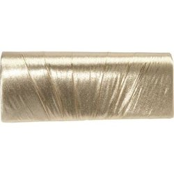 J Furmani  - Pleated Lame Clutch Bag