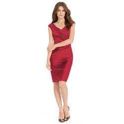 Ruched - Stretch Satin Dress