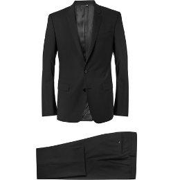 Dolce & Gabbana   - Black Martini Slim-Fit Wool-Blend Suit