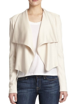Alice + Olivia  - Cory Draped Leather-Detail Jacket