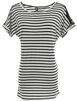 Uxcell - Stripes Loose T-Shirt