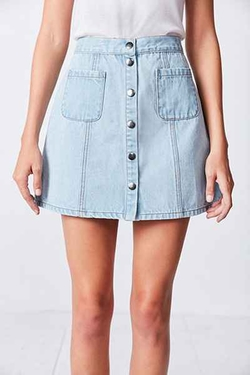 BDG - Denim Button-Front Skirt