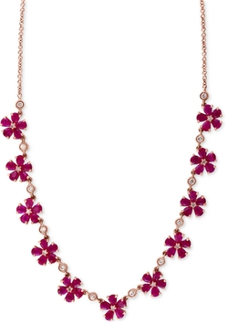 Effy Collection  - Rosa by Ruby Collar Necklace