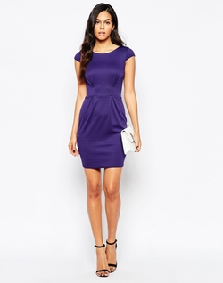 Closet - Cap Sleeve Fitted Dress