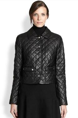 Michael Kors  - Plong Quilted Leather Jacket