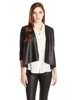 Velvet by Graham & Spencer - Mixed-Material Open-Front Jacket