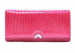 Benelli - Genuine Leather Croc Pattern Clutch Wallet