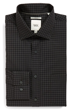 W.R.K - Extra Trim Fit Stretch Check Dress Shirt