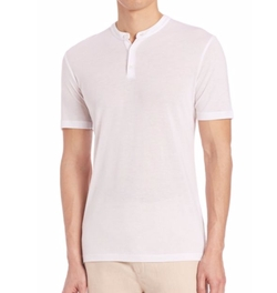 Saks Fifth Avenue Collection  - Cotton Henley Tee