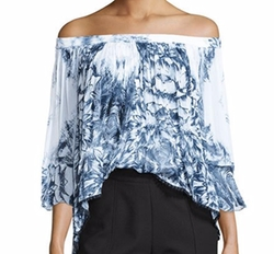 Tryb  - Morgan Off-The-Shoulder Printed Top