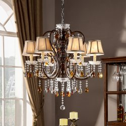 Tribecca Home  - Clarissa Tea Crystal Ceiling Lamp