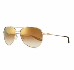 Barton Perreira - Universal Fit Lovitt Mirror Aviator Sunglasses, Golden