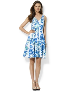 Lauren Ralph Lauren - Floral-Print Pleated Cotton Dress