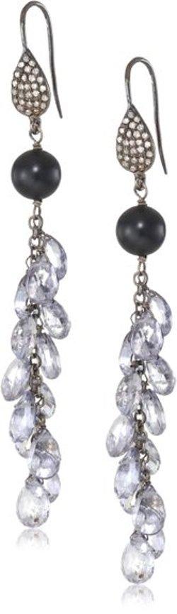 Wendy Brigode  - Diamond Earwire Drops Earrings
