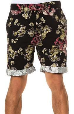 Elwood  - The Digi Floral Chino Shorts in Black & Pink