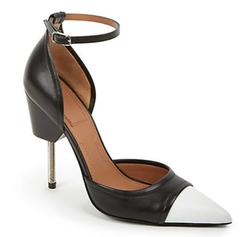 Givenchy - Phara Cutout-Side Two-Tone Leather Pumps