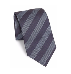 Saks Fifth Avenue Collection - Herringbone Striped Silk Tie