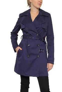 Vince  - Double Breasted Trench in Navy