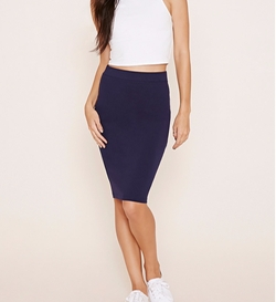 Forever21 - Cotton-Blend Pencil Skirt