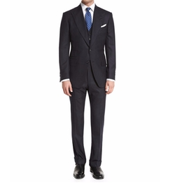 Tom Ford - Windsor Base Flannel Pinstripe Three-Piece Suit