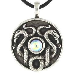 Wicca, Wiccan, Metaphysical  - Nathair Amulet Celtic Pendant Necklace Charm Necklace