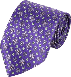 Barneys New York  - Medallion Silk Neck Tie