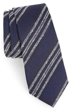 Alexander Olch  - Textured Stripe Silk Tie