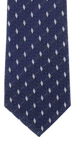 Michelsons Of London - Navy Geo Diamond Silk Tie