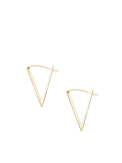 Foundrae - 14k Medium Triangle Earrings