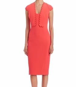 Antonio Berardi - Wool Blend Cap Sleeve Dress
