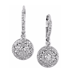 Effy  - Diamond Circle Drop Earrings