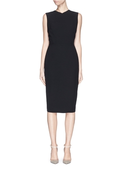Victoria Beckham - Open Back Bow Tie Double Crepe Dress