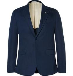 Gant Rugger - Navy Cotton And Linen-Blend Blazer
