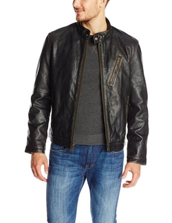 Marc New York By Andrew Marc - Radford Distressed Retro Leather Jacket