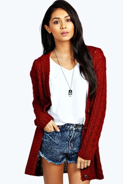 Boohoo - Lucy Cable Knit Cardigan
