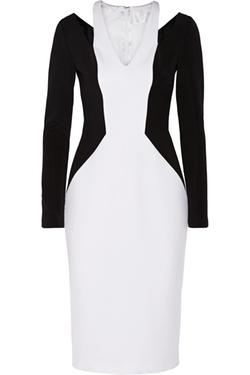 Cushnie et Ochs - Monochrome Stretch-Jersey Dress