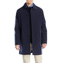 Kenneth Cole - Rally Single-Breasted Fly-Front Raincoat