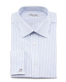 Charvet - Striped French-Cuff Dress Shirt & Diagonal-Neat Silk Tie