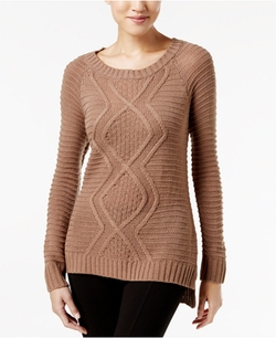 NY Collection - Cable-Knit Sweater