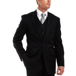 Stafford - Gabardine Performance Black Wool Suit Jacket