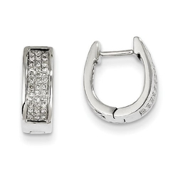 JewelsObsession - Small Hinged Oval Hoop Earrings