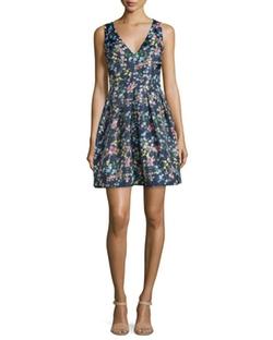 Erin Erin Fetherston - Devon Sleeveless V-Neck Party Dress