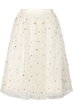 Alice + Olivia - Catrina Embellished Tulle And Organza Skirt