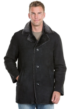 Overland Sheepskin Co  - Finnian Shearling Sheepskin Coat