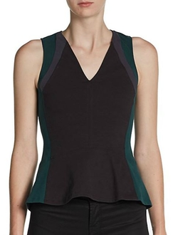 Aiko - Kittles Colorblock Peplum Top
